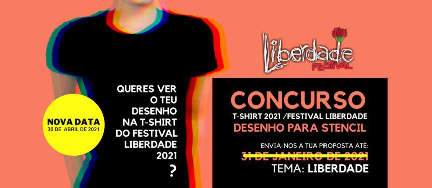 """Prolongado prazo de candidaturas para o Concurso de Desenho """"T-shirt Festival Liberdade 2021"""""""